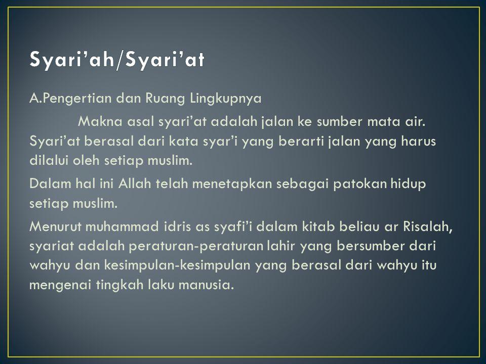 Syari'ah/Syari'at