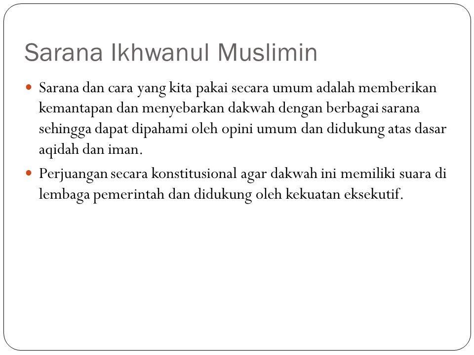 Sarana Ikhwanul Muslimin