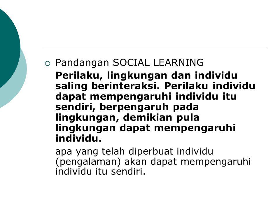 Pandangan SOCIAL LEARNING