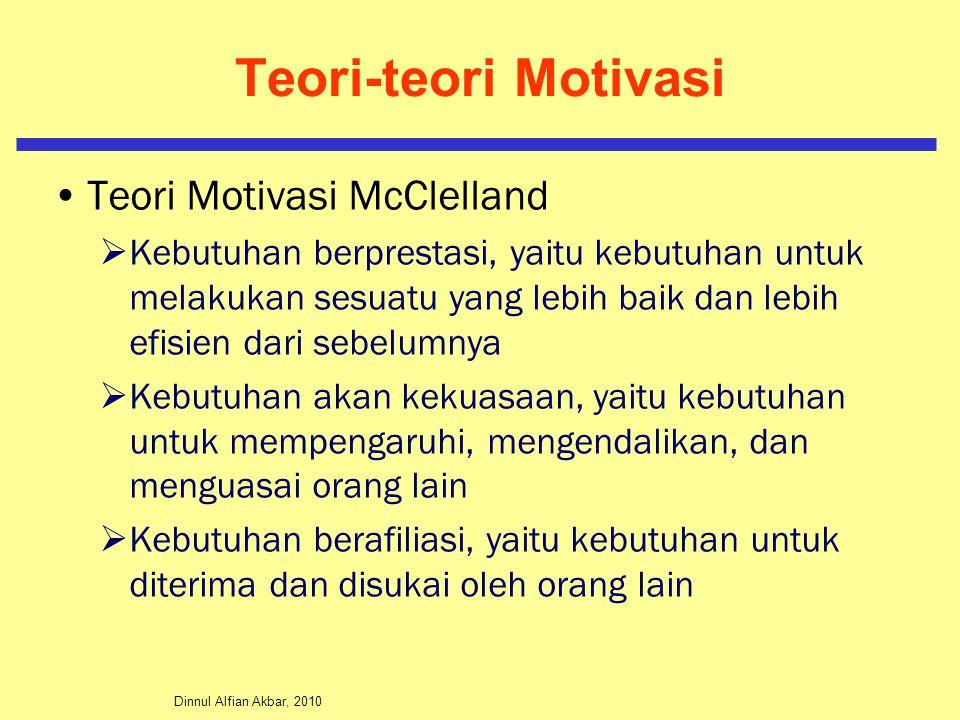 Teori-teori Motivasi Teori Motivasi McClelland