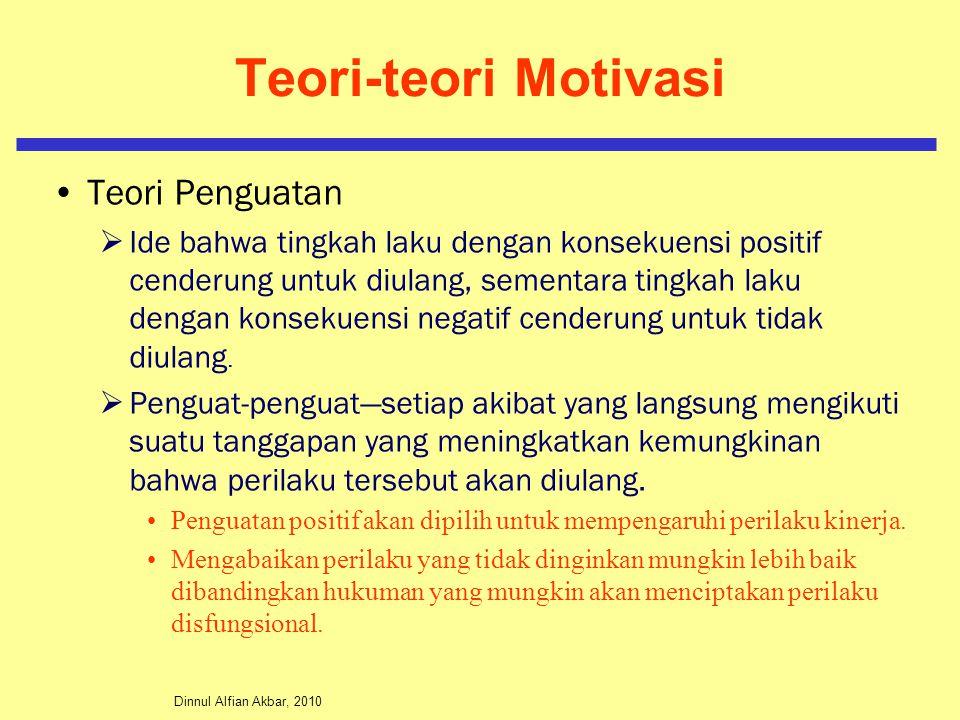 Teori-teori Motivasi Teori Penguatan