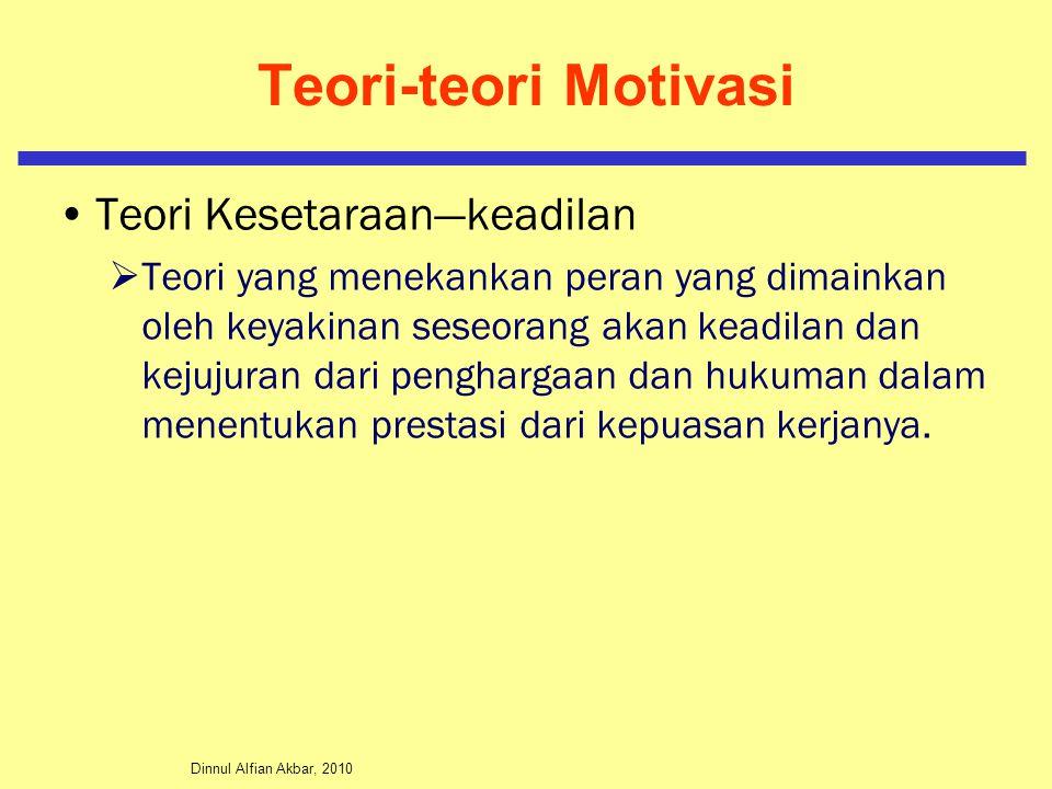 Teori-teori Motivasi Teori Kesetaraan—keadilan