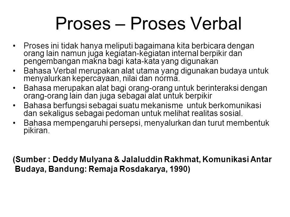 Proses – Proses Verbal