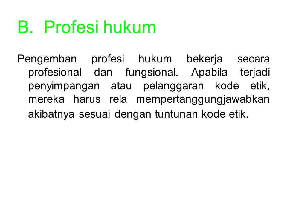 Profesi hukum