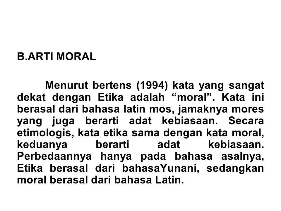 ARTI MORAL