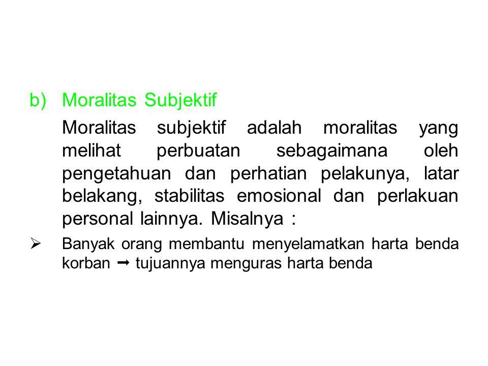 Moralitas Subjektif