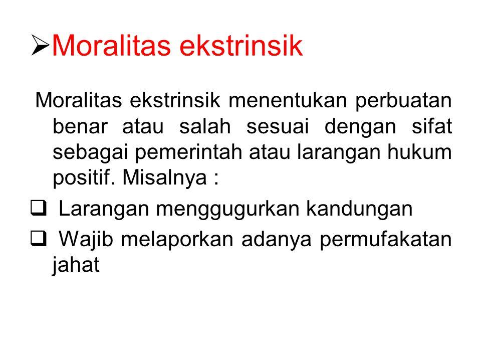 Moralitas ekstrinsik