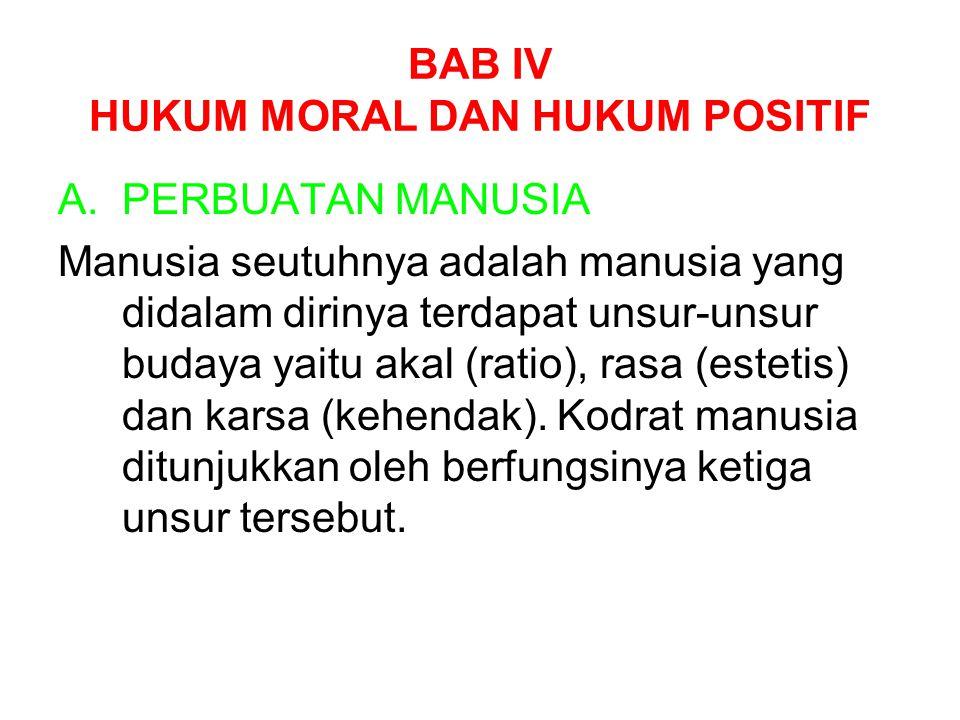 BAB IV HUKUM MORAL DAN HUKUM POSITIF