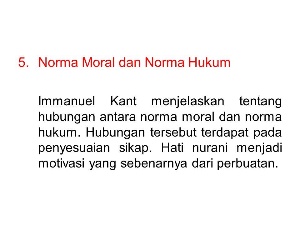 Norma Moral dan Norma Hukum