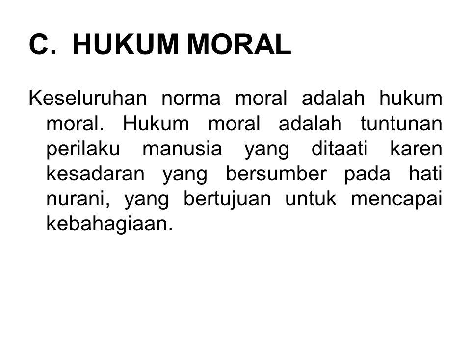HUKUM MORAL