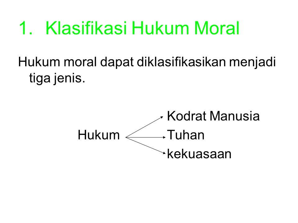 Klasifikasi Hukum Moral