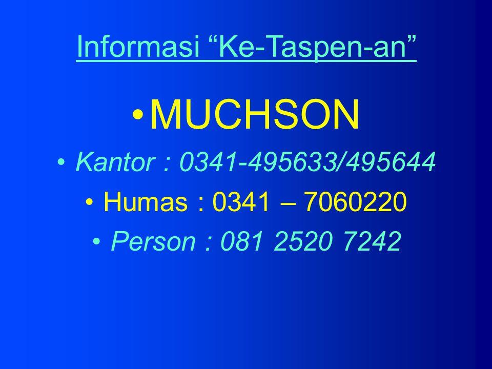 Informasi Ke-Taspen-an