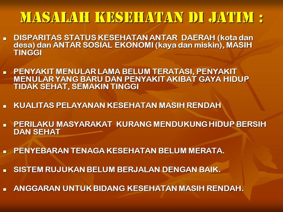 MASALAH KESEHATAN Di Jatim :