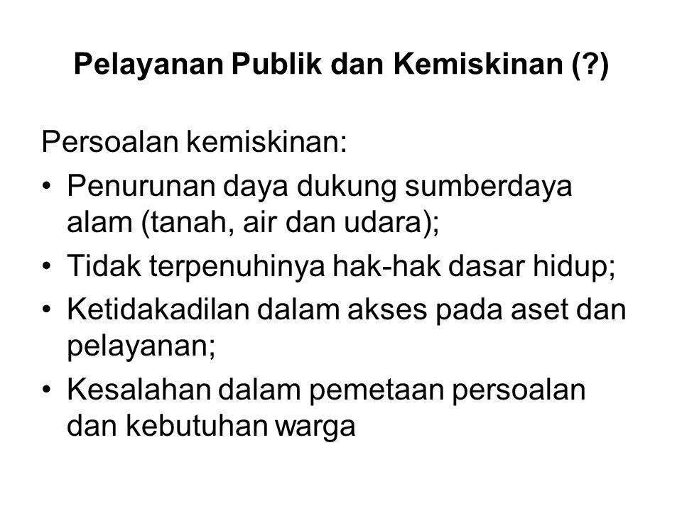 Pelayanan Publik dan Kemiskinan ( )