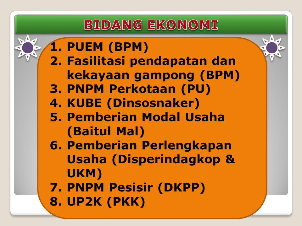 BIDANG EKONOMI PUEM (BPM)