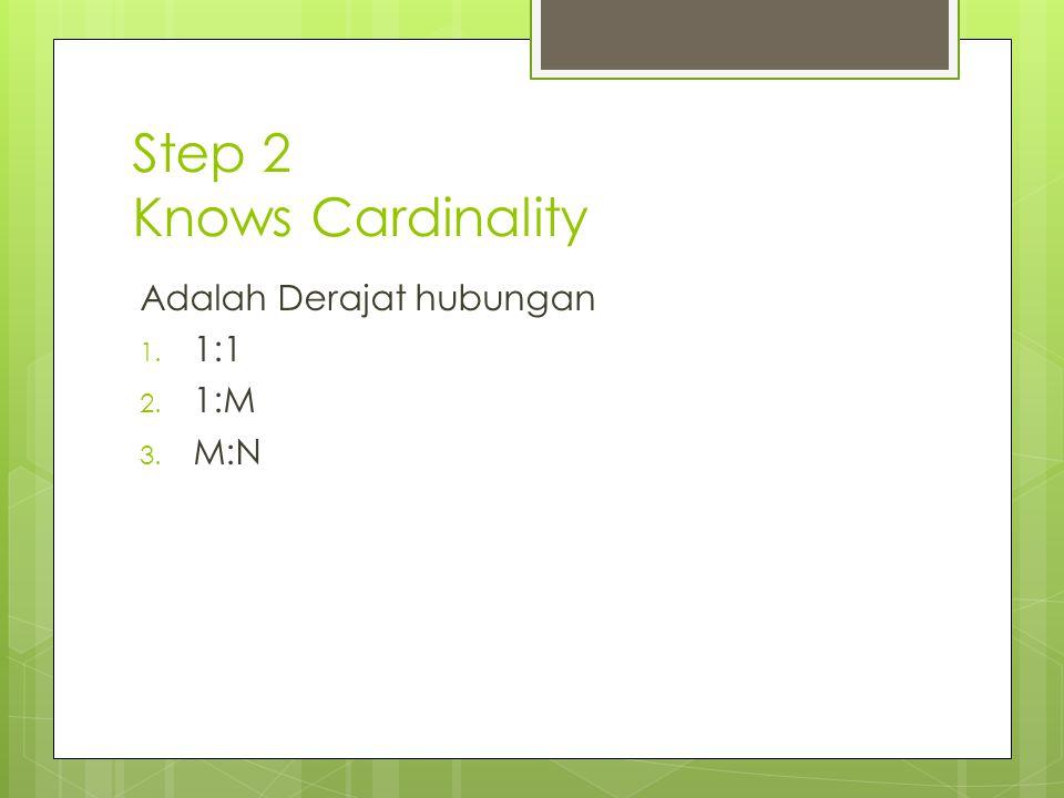Step 2 Knows Cardinality