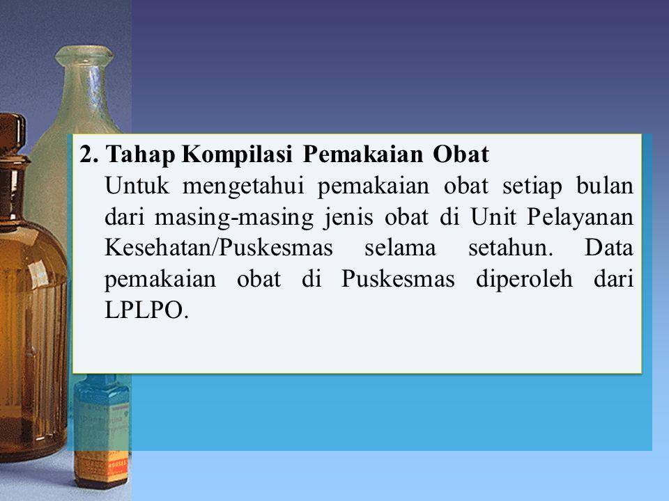 2. Tahap Kompilasi Pemakaian Obat