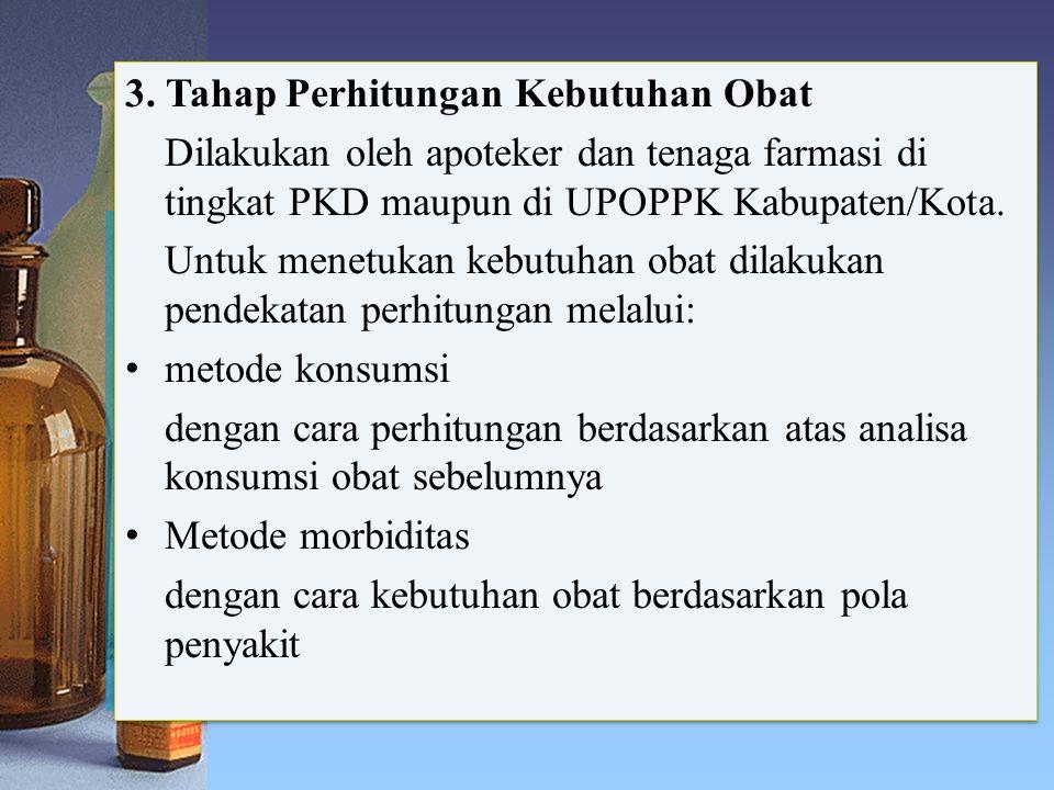 3. Tahap Perhitungan Kebutuhan Obat