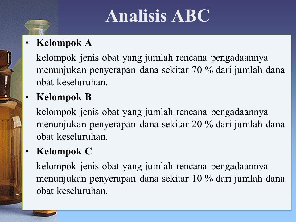 Analisis ABC Kelompok A