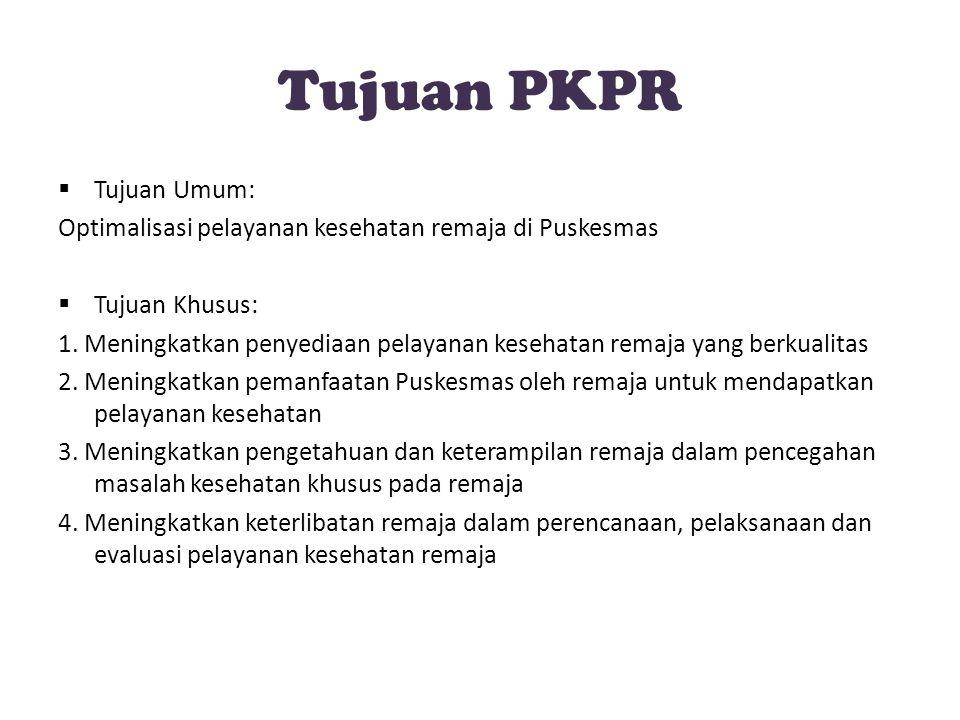 Tujuan PKPR Tujuan Umum: