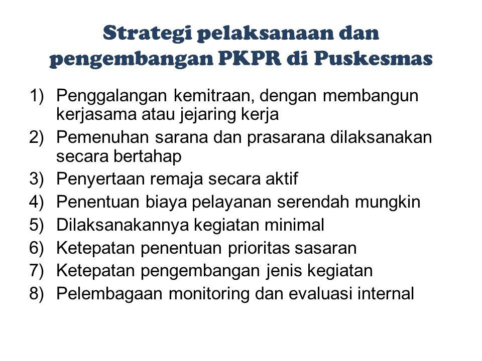 Strategi pelaksanaan dan pengembangan PKPR di Puskesmas
