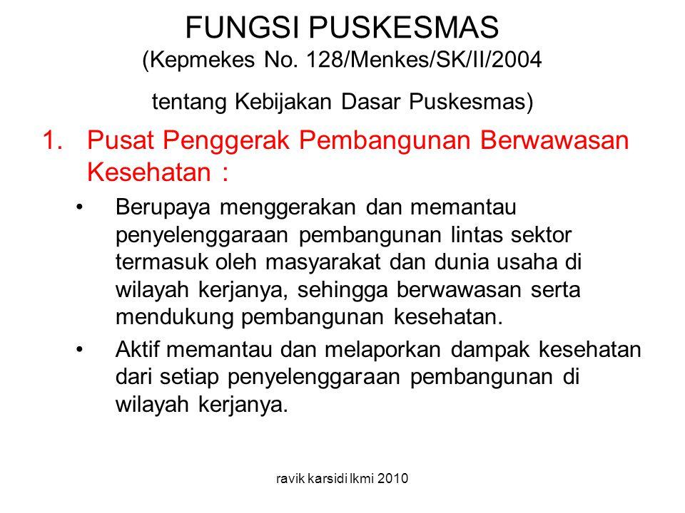 FUNGSI PUSKESMAS (Kepmekes No