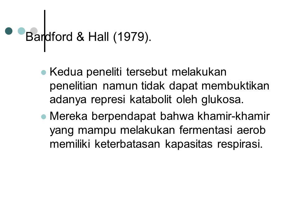 Bardford & Hall (1979). Kedua peneliti tersebut melakukan penelitian namun tidak dapat membuktikan adanya represi katabolit oleh glukosa.