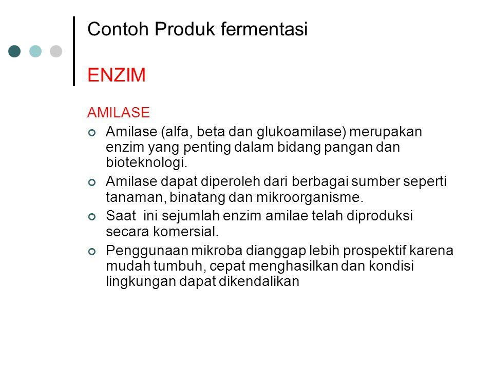 Contoh Produk fermentasi ENZIM
