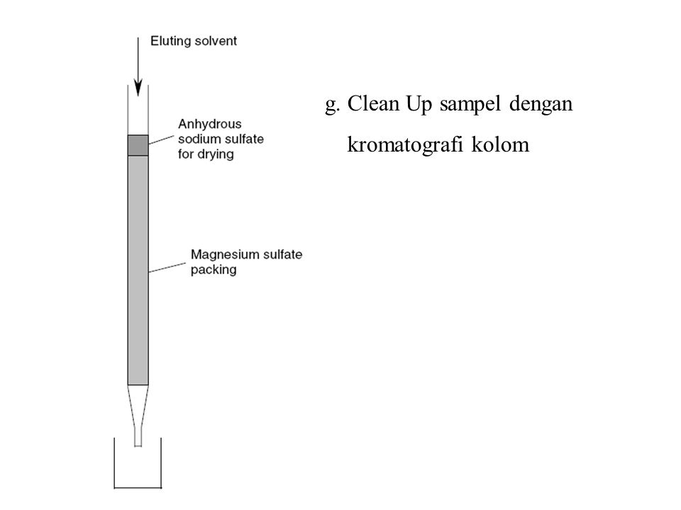 g. Clean Up sampel dengan