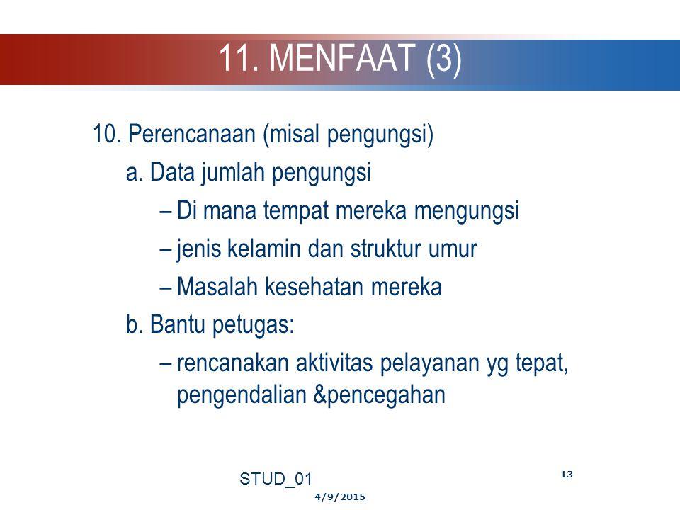 11. MENFAAT (3) 10. Perencanaan (misal pengungsi)