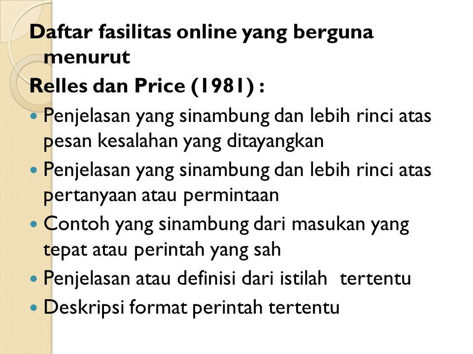 Daftar fasilitas online yang berguna menurut