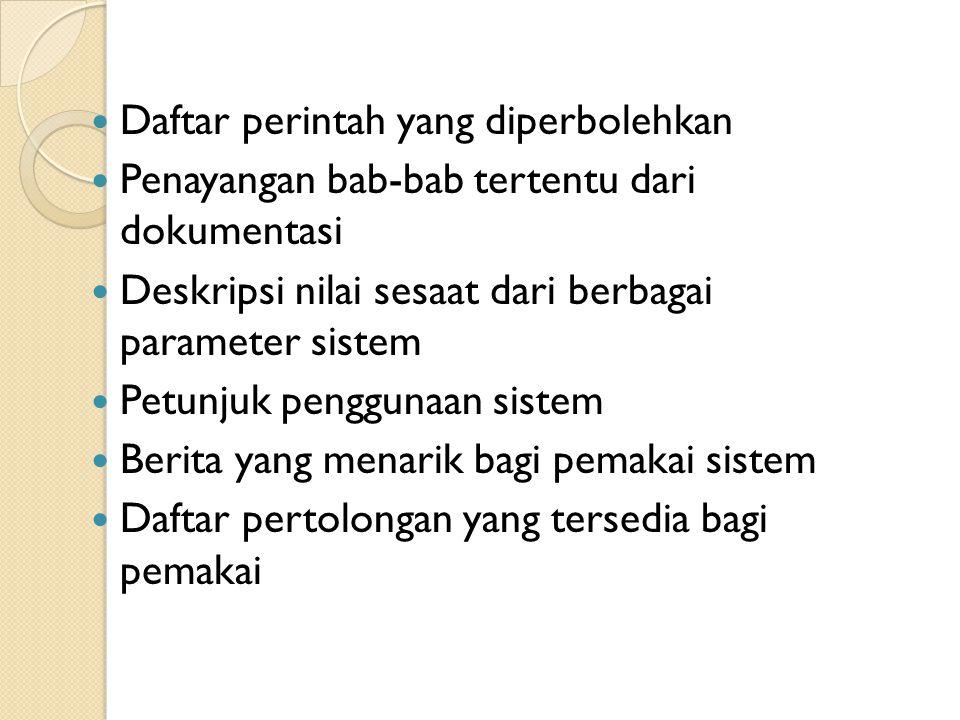Daftar perintah yang diperbolehkan