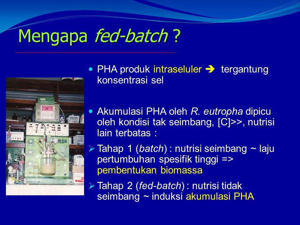 Mengapa fed-batch PHA produk intraseluler  tergantung konsentrasi sel.