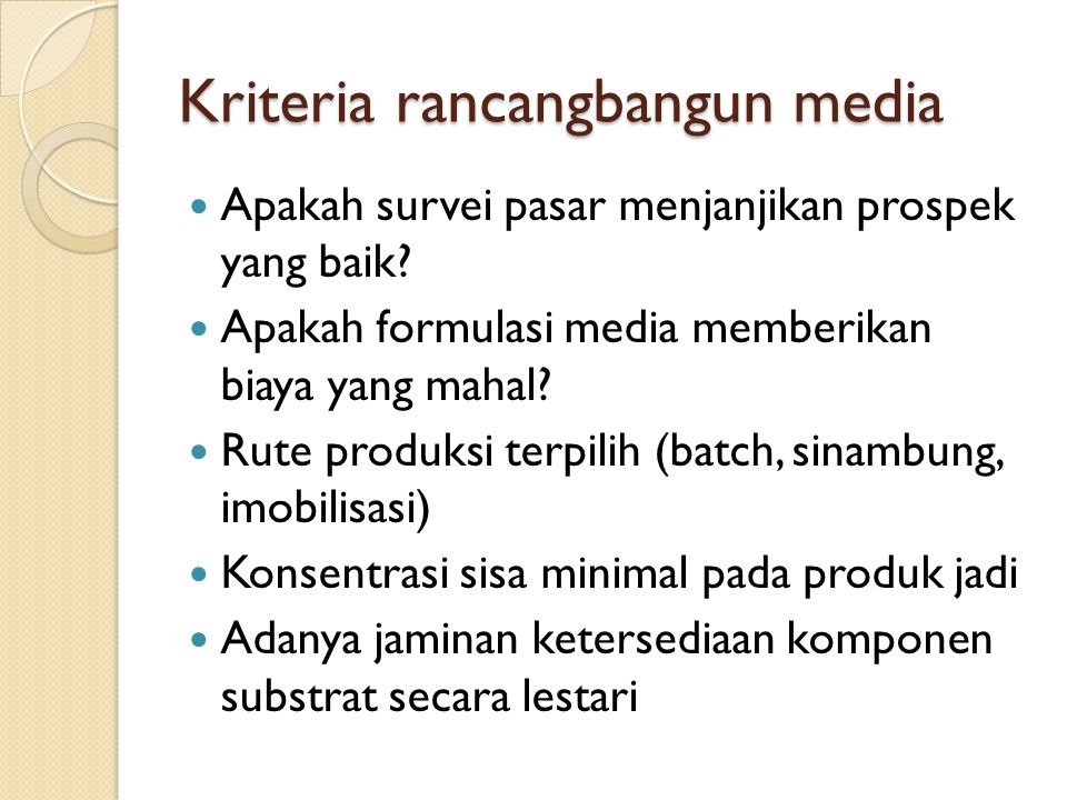 Kriteria rancangbangun media