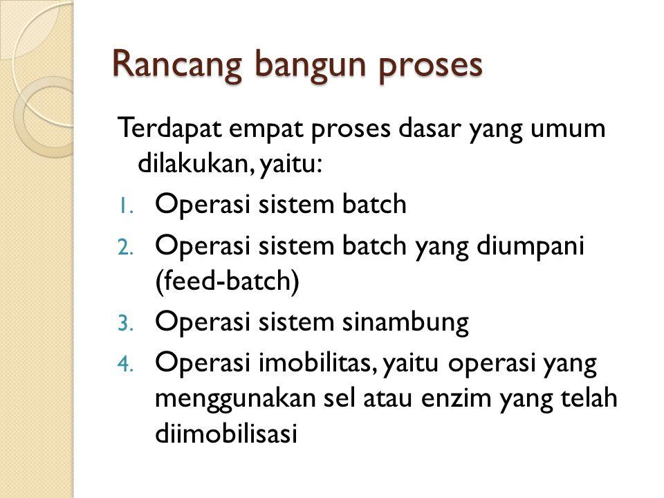 Rancang bangun proses Terdapat empat proses dasar yang umum dilakukan, yaitu: Operasi sistem batch.
