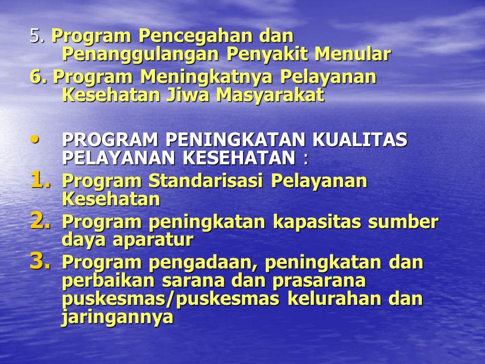 5. Program Pencegahan dan Penanggulangan Penyakit Menular