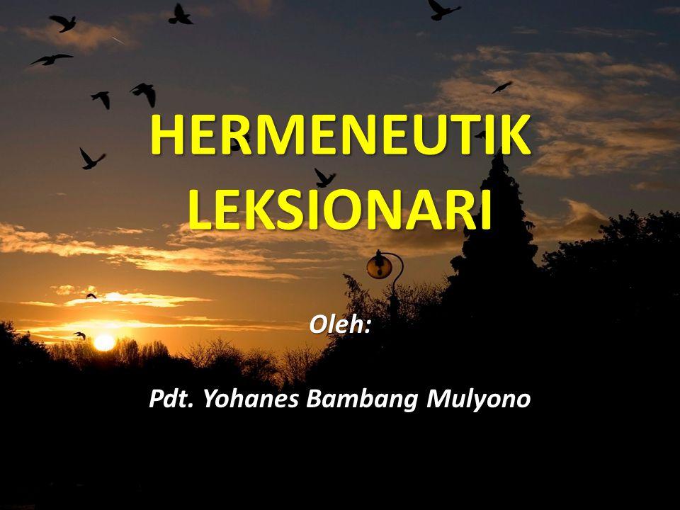 HERMENEUTIK LEKSIONARI