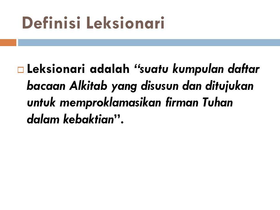 Definisi Leksionari