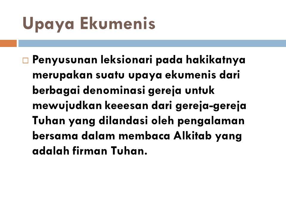 Upaya Ekumenis