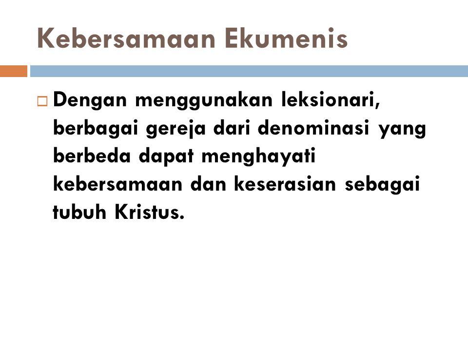 Kebersamaan Ekumenis