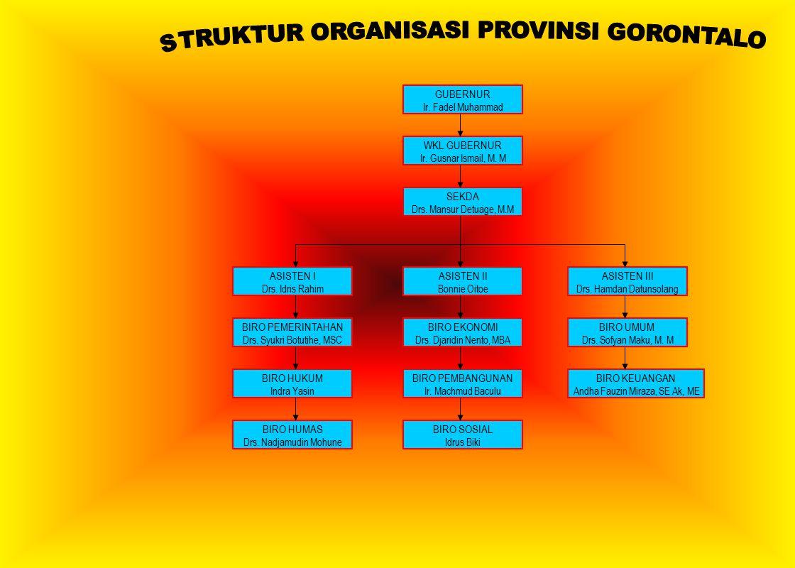 STRUKTUR ORGANISASI PROVINSI GORONTALO