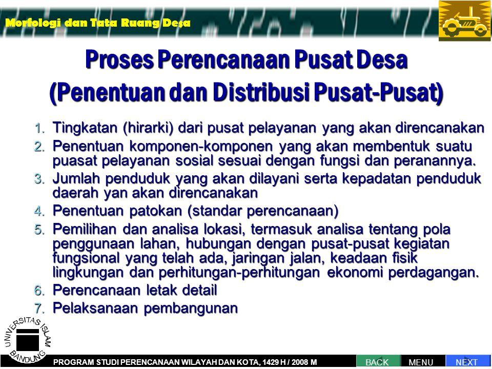 Proses Perencanaan Pusat Desa (Penentuan dan Distribusi Pusat-Pusat)