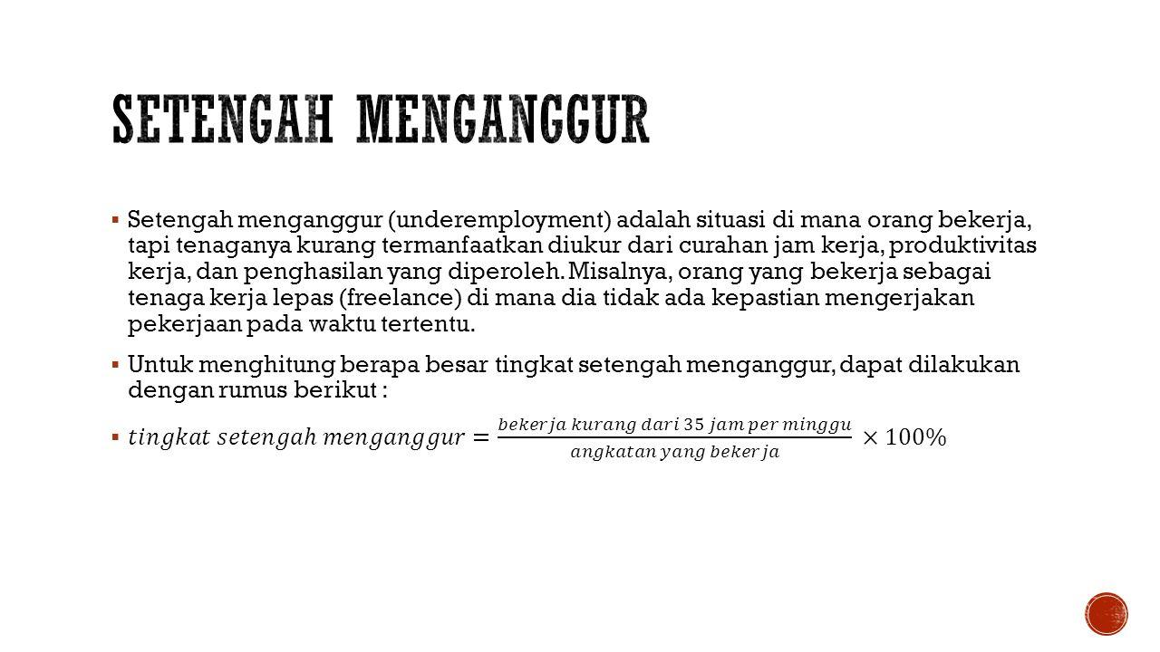 SETENGAH MENGANGGUR