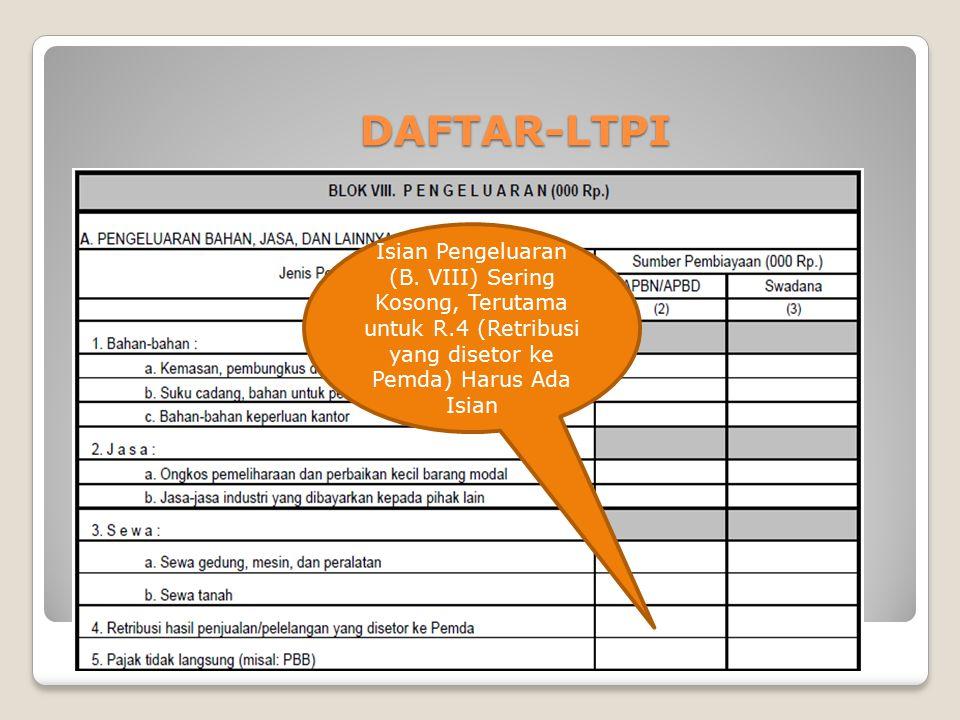 NIHIL DAFTAR-LTPI Isian Pengeluaran