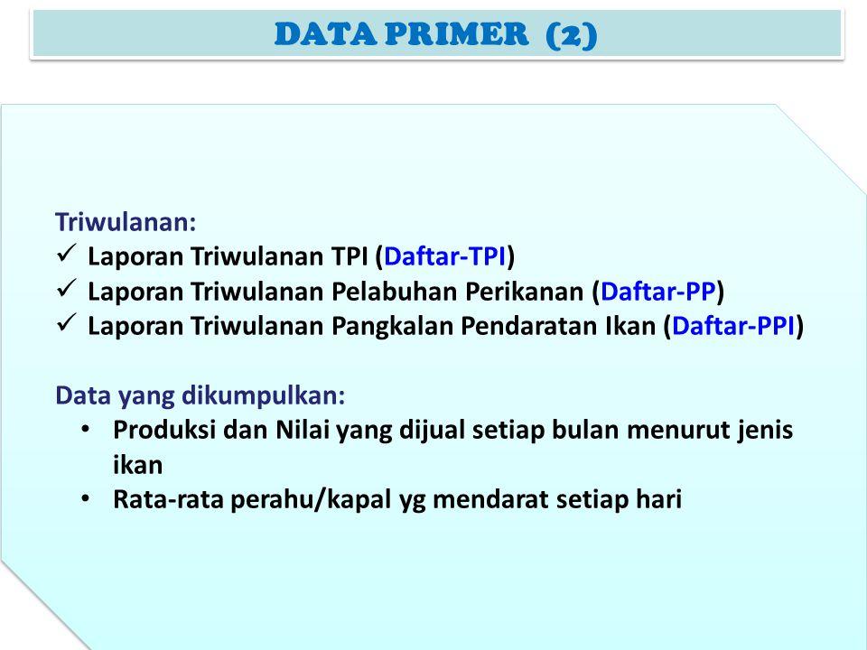 DATA PRIMER (2) Triwulanan: Laporan Triwulanan TPI (Daftar-TPI)