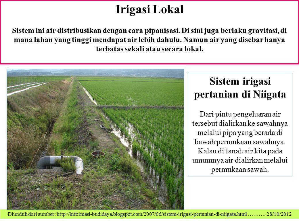 Sistem irigasi pertanian di Niigata