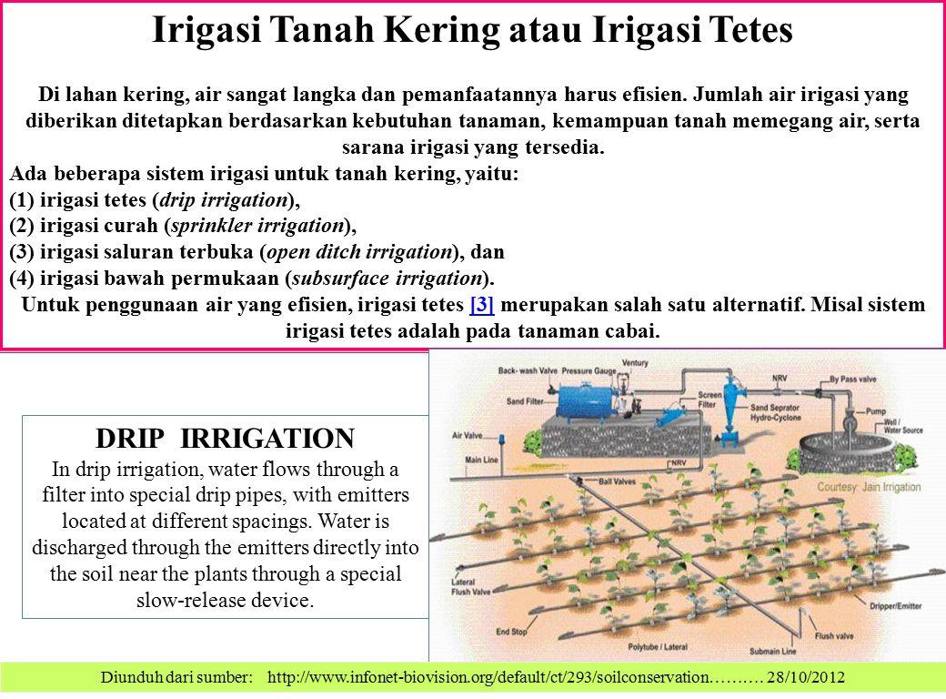 Irigasi Tanah Kering atau Irigasi Tetes