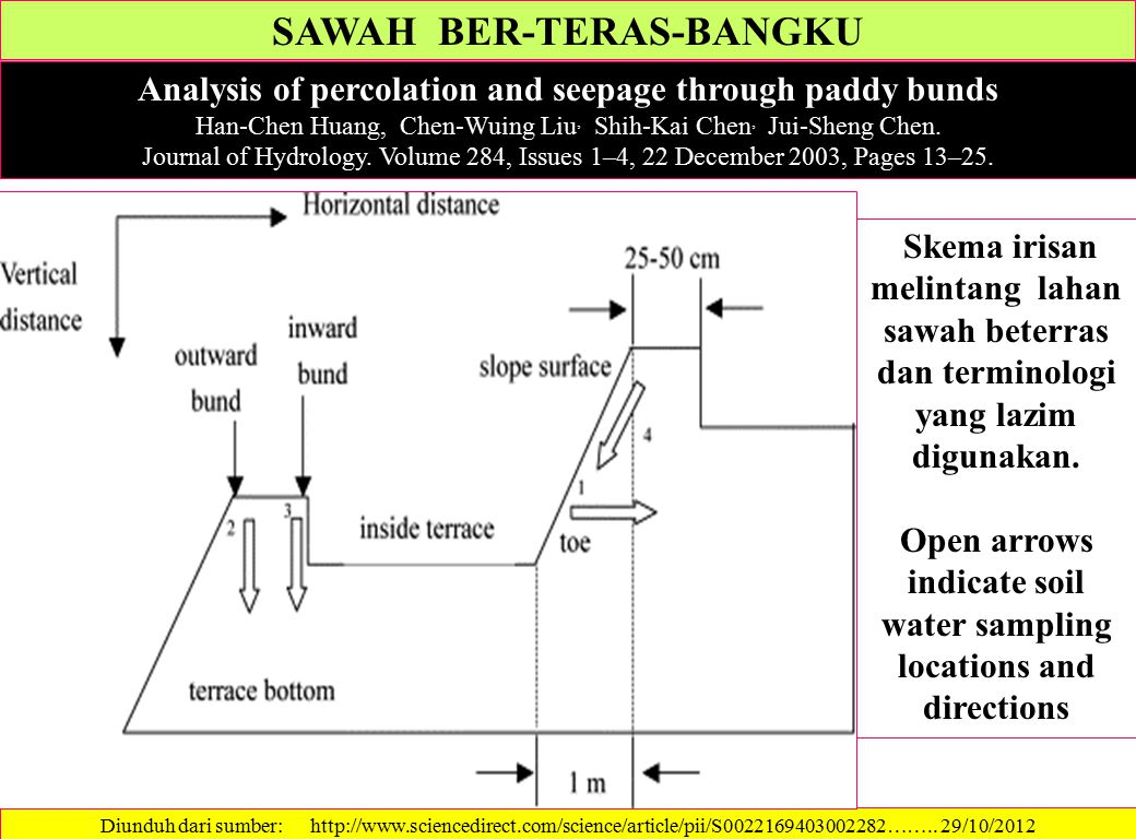 SAWAH BER-TERAS-BANGKU