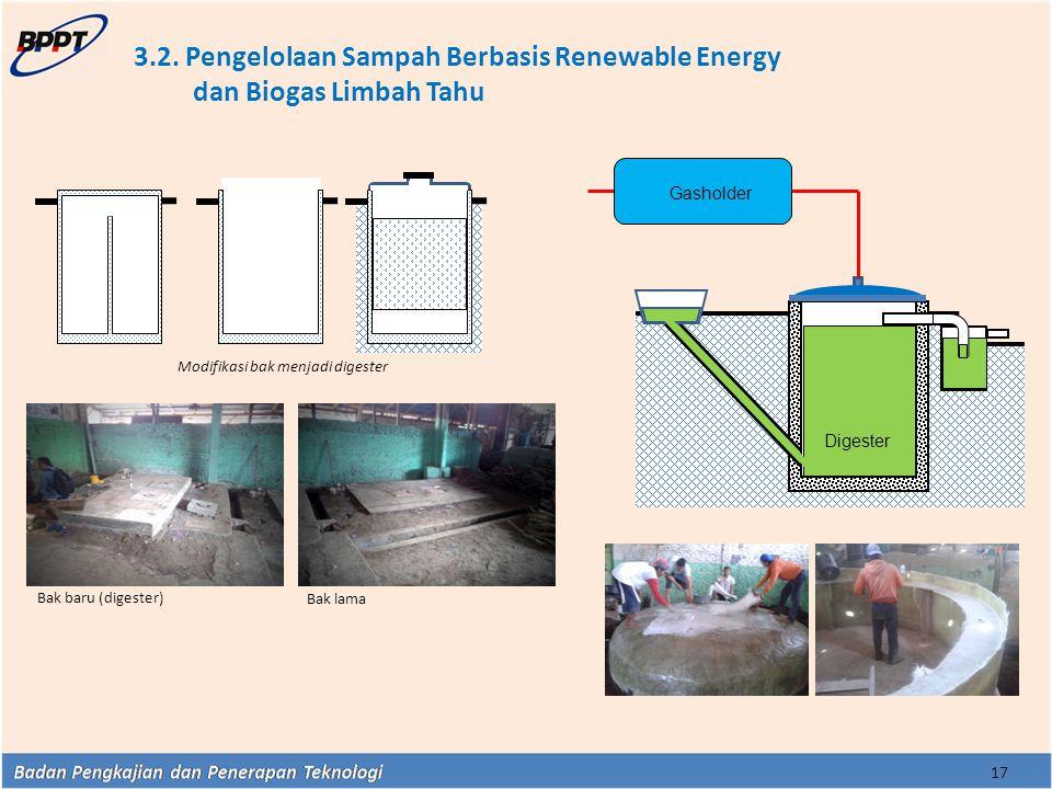 3.2. Pengelolaan Sampah Berbasis Renewable Energy dan Biogas Limbah Tahu