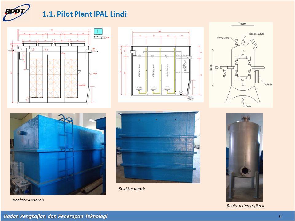 1.1. Pilot Plant IPAL Lindi Reaktor aerob Reaktor anaerob